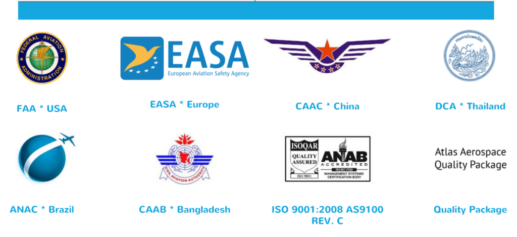 Atlas Aerospace Certifications