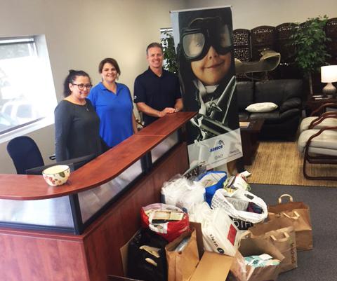 Aereos donates to hurricane victims