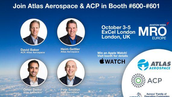 Aereos, Atlas Aerospace and ACP Exhibit in 2017 MRO Europe