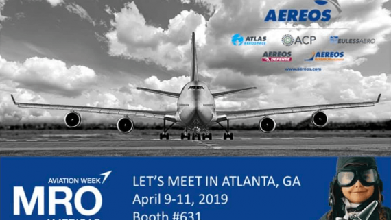 Aereos Group Attending 2019 MRO Americas Announcing their newest division, Aereos Interior Solutions