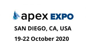 Aereos attending 2020 APEX expo aerospace industry event in san diego california