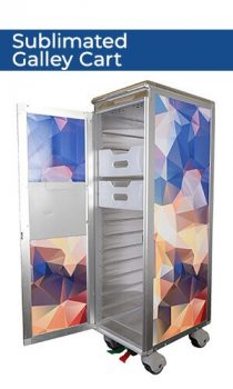 J4E7284p sublimated galley cart title new
