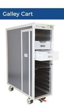 full galley cart with drawer title new
